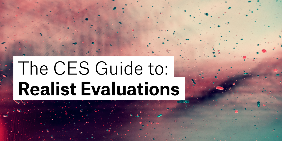 Realist Evaluation blog cover